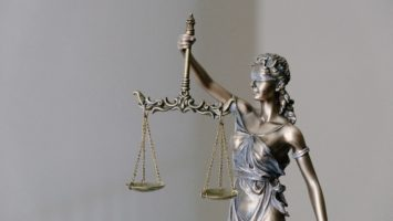 Photo of justice sculpture